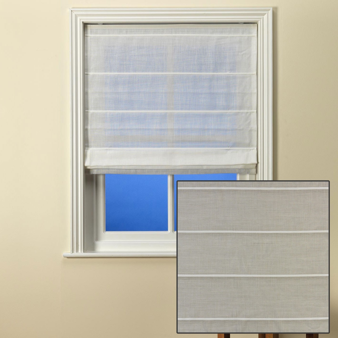 Laescala Natural Linen Custom Made Sheer Roman Blind From Net Within Natural Linen Roman Blinds (View 13 of 15)