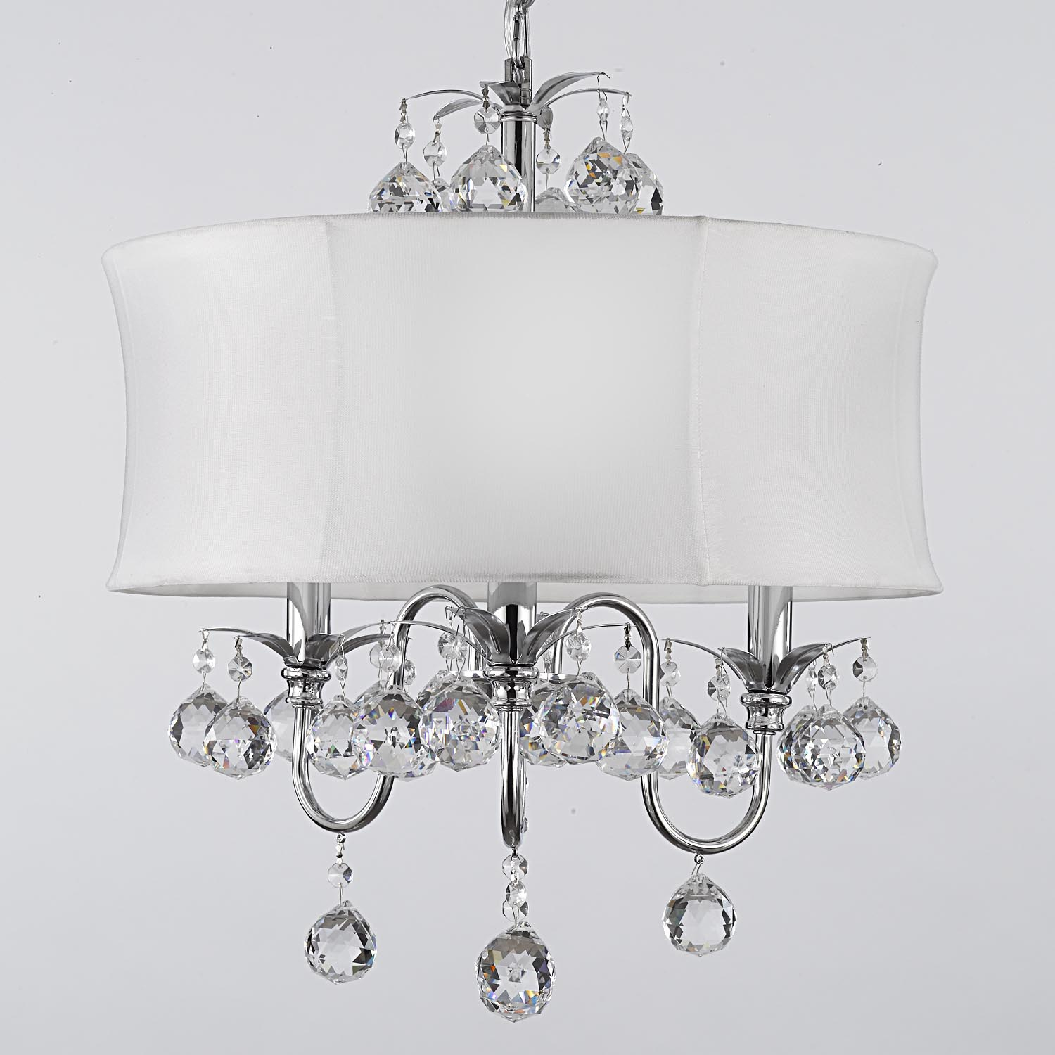 Lamps Round Modern Chandelier Bedroom Lighting Chandelier Mini Regarding Modern White Chandelier (Image 8 of 15)