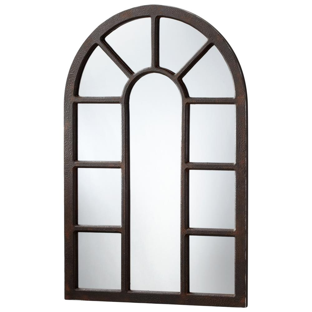 Lancaster Industrial Loft Large 48 Iron Arched Wall Mirror Pertaining To Arched Wall Mirrors (View 11 of 15)