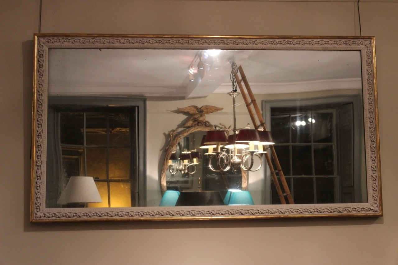 Large 19th Cent English Country House Mirror Square Mirrors Regarding Large Square Mirror (View 7 of 15)