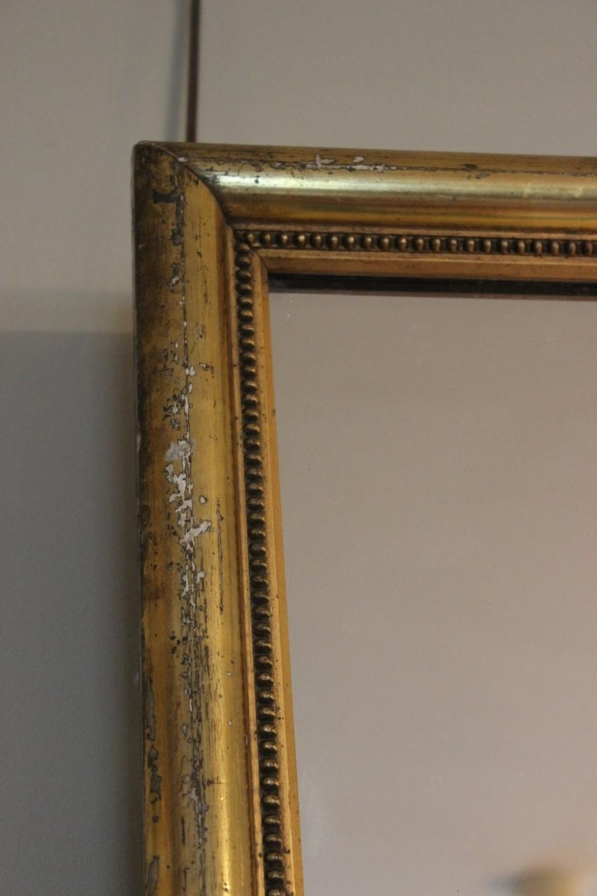 Large 19th Century Gold Gilt Mirror Square Mirrors Rectangular Throughout Gold Gilt Mirrors (Image 11 of 15)