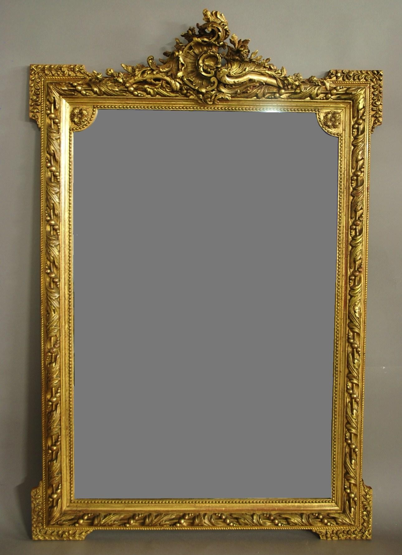 Large 19th Century Ornate French Gilt Mirror 1880 France From Regarding Ornate Gilt Mirrors (Image 7 of 15)