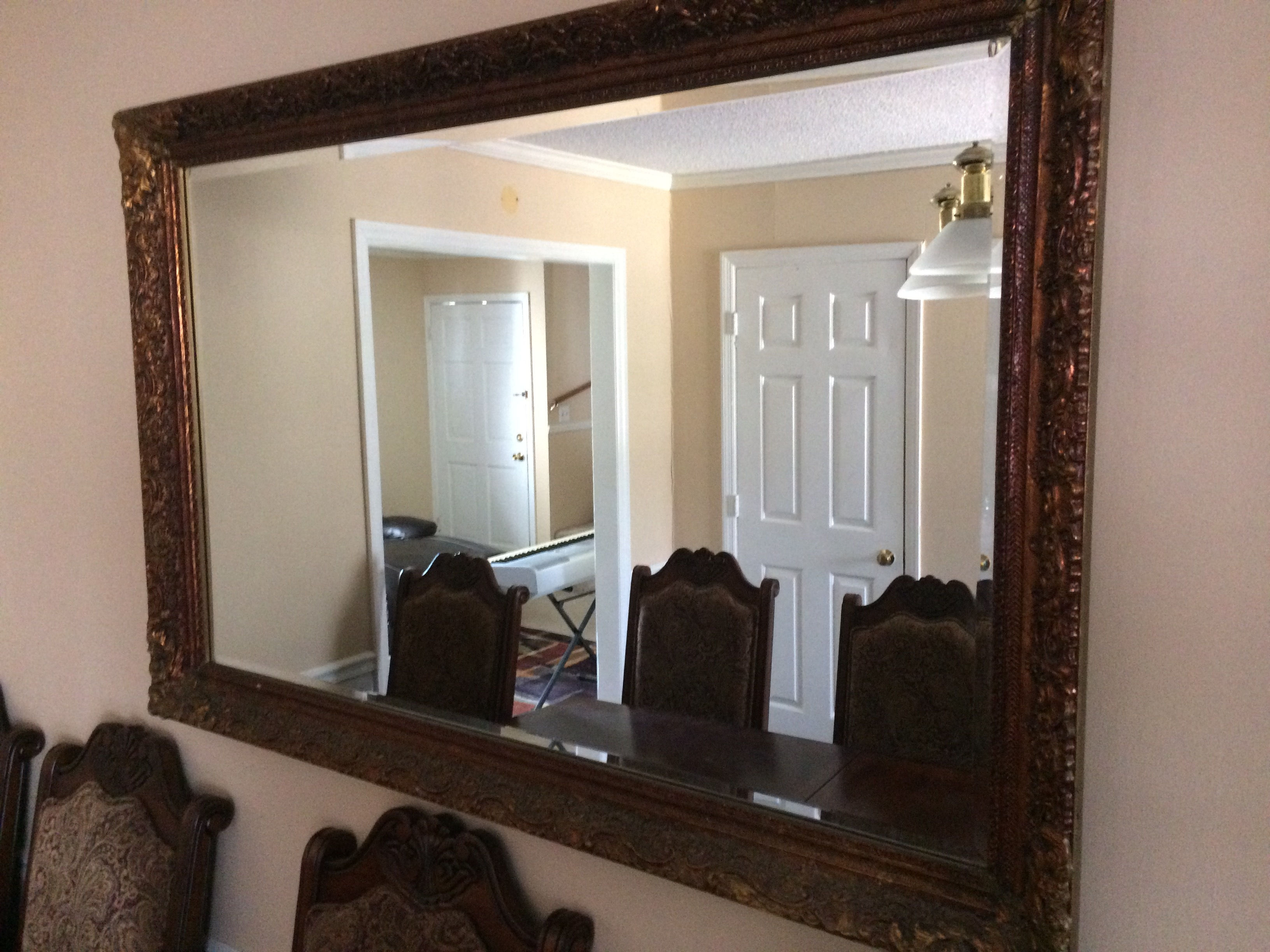 Large Antique Beveled Glass Mirror Moving Sale In Large Antique Mirror For Sale (Image 8 of 15)