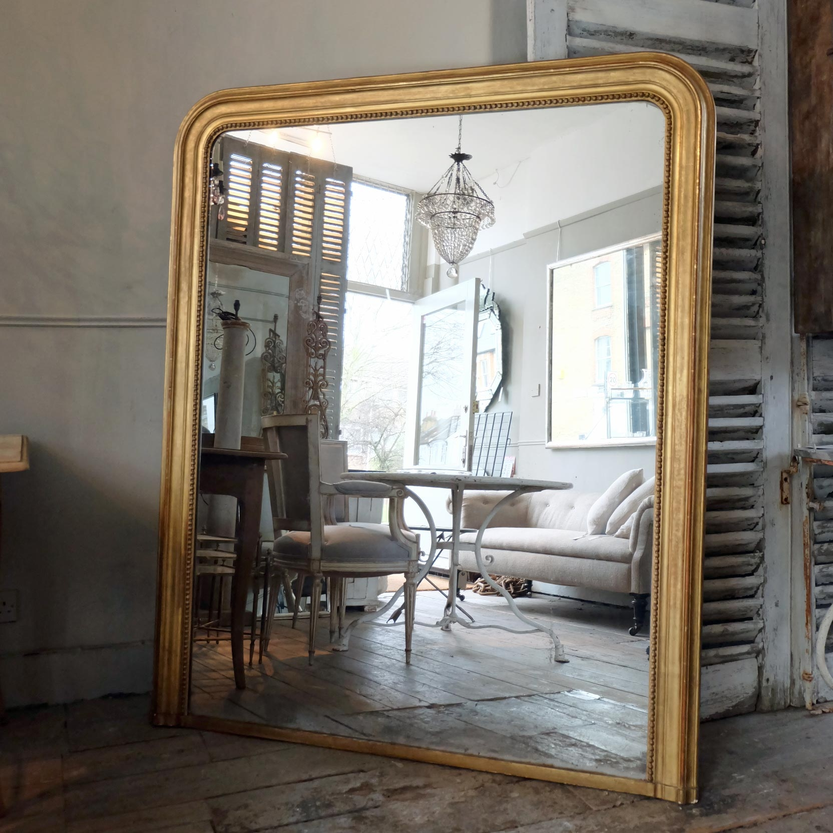 Large Antique Gilt Mirror Puckhaber Decorative Antiques Throughout Large Antiqued Mirror (View 10 of 15)