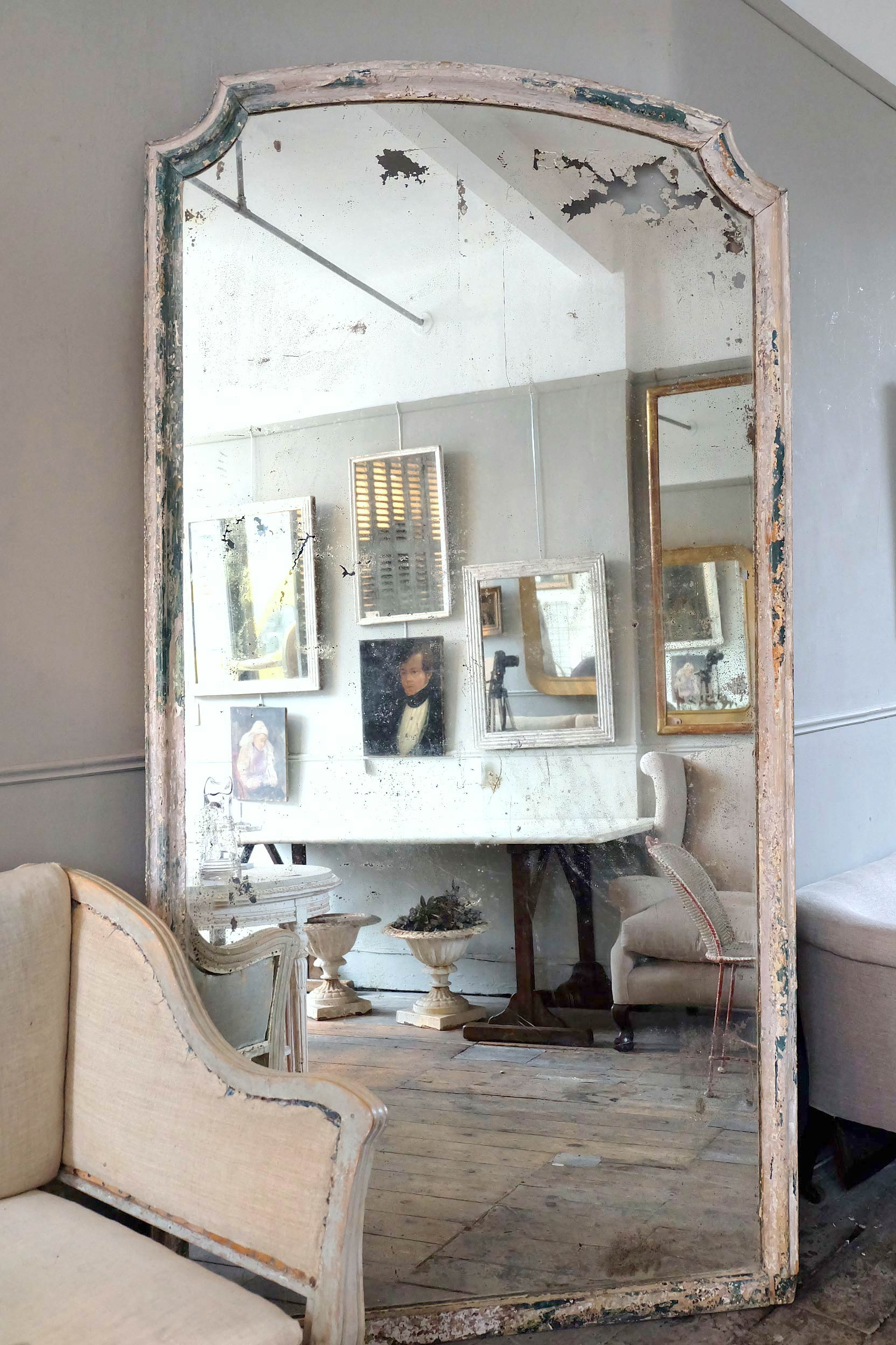 Large Antique Italian Mirror Puckhaber Decorative Antiques For Large Antique Mirror (Image 7 of 15)