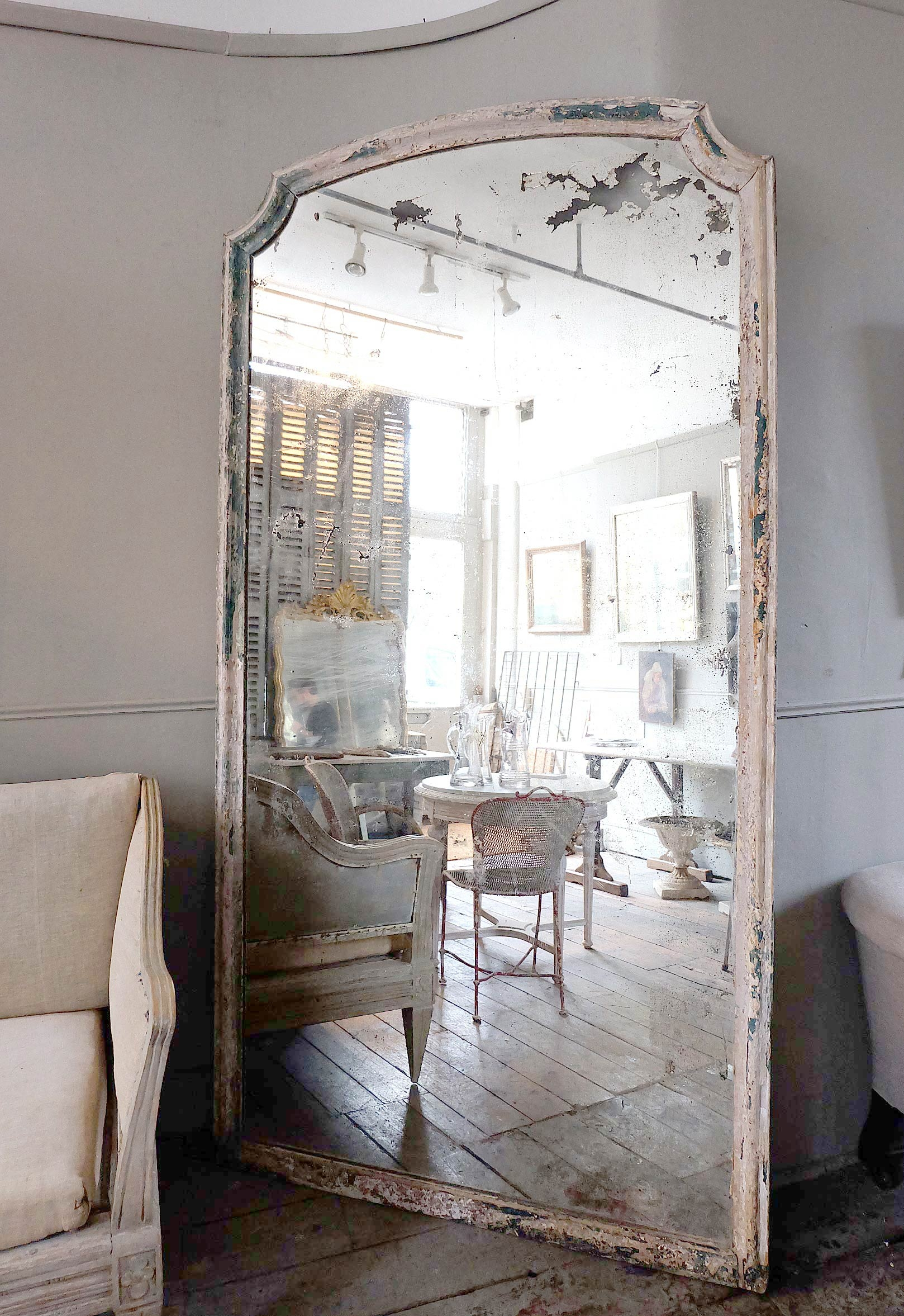 Large Antique Italian Mirror Puckhaber Decorative Antiques Intended For Large Antique Mirror (Image 8 of 15)