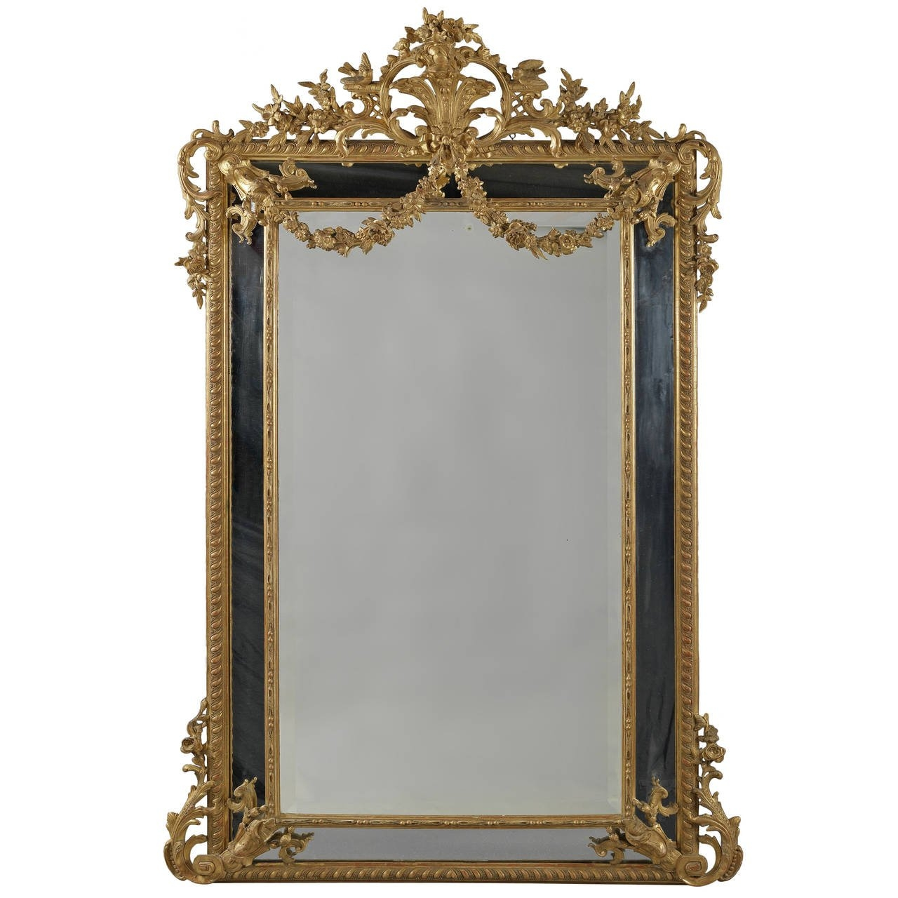 Large Antique Mirror For Sale At 1stdibs Throughout Large Antique Mirror For Sale (Image 10 of 15)