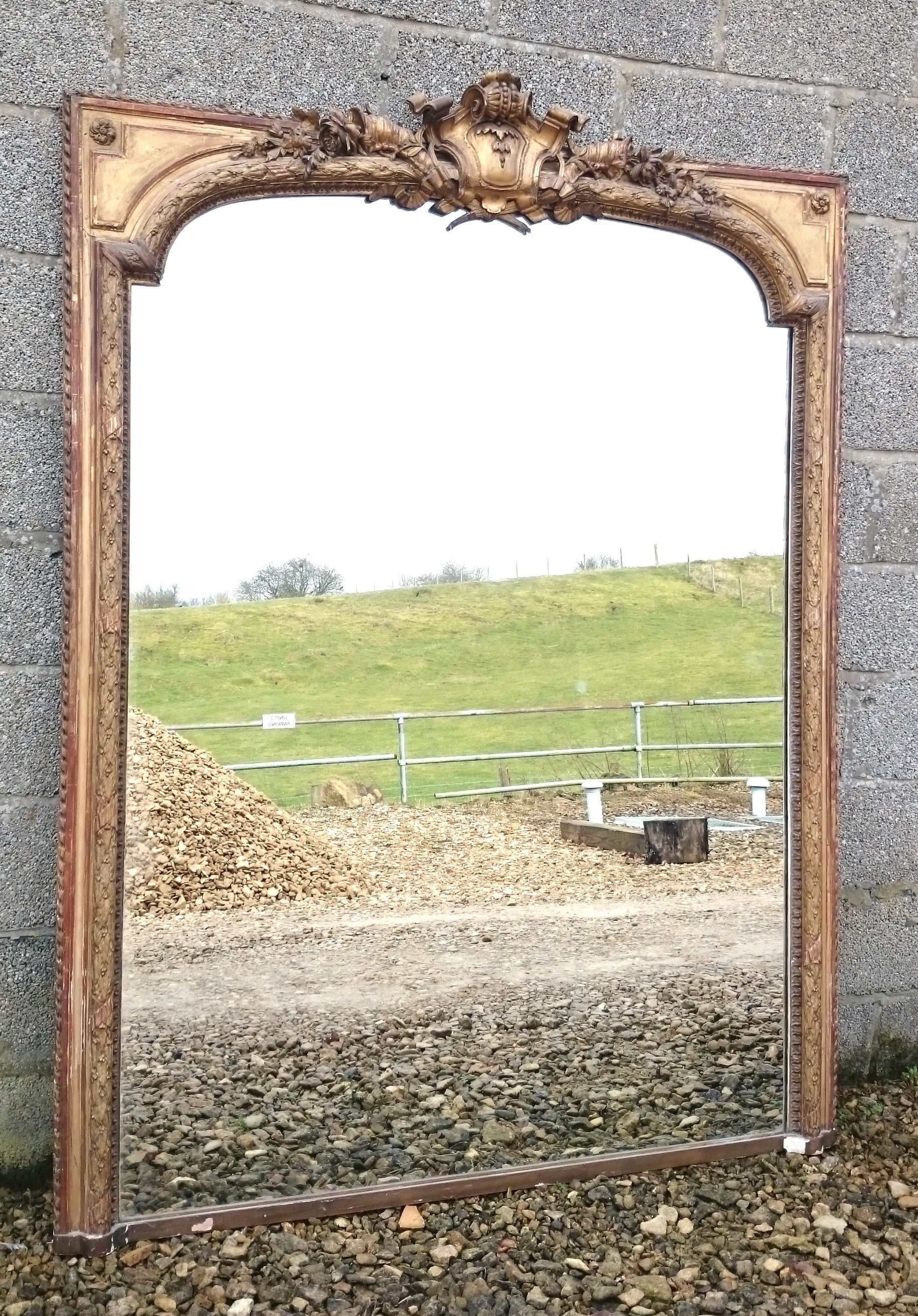 Large Antique Overmantle Mirror C 1850 United Kingdom From With Antique Overmantle Mirrors (Image 9 of 15)