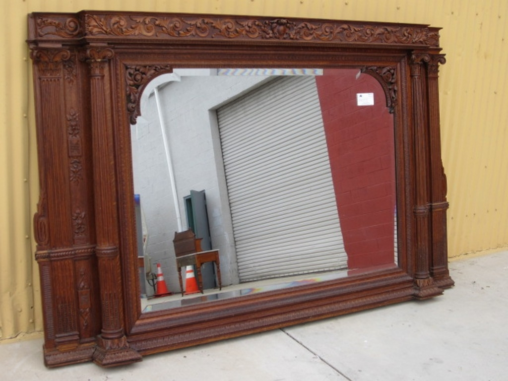 Large Antique Wall Mirrors Ornate Frame Doherty House Throughout Large Antique Wall Mirror (Image 11 of 15)