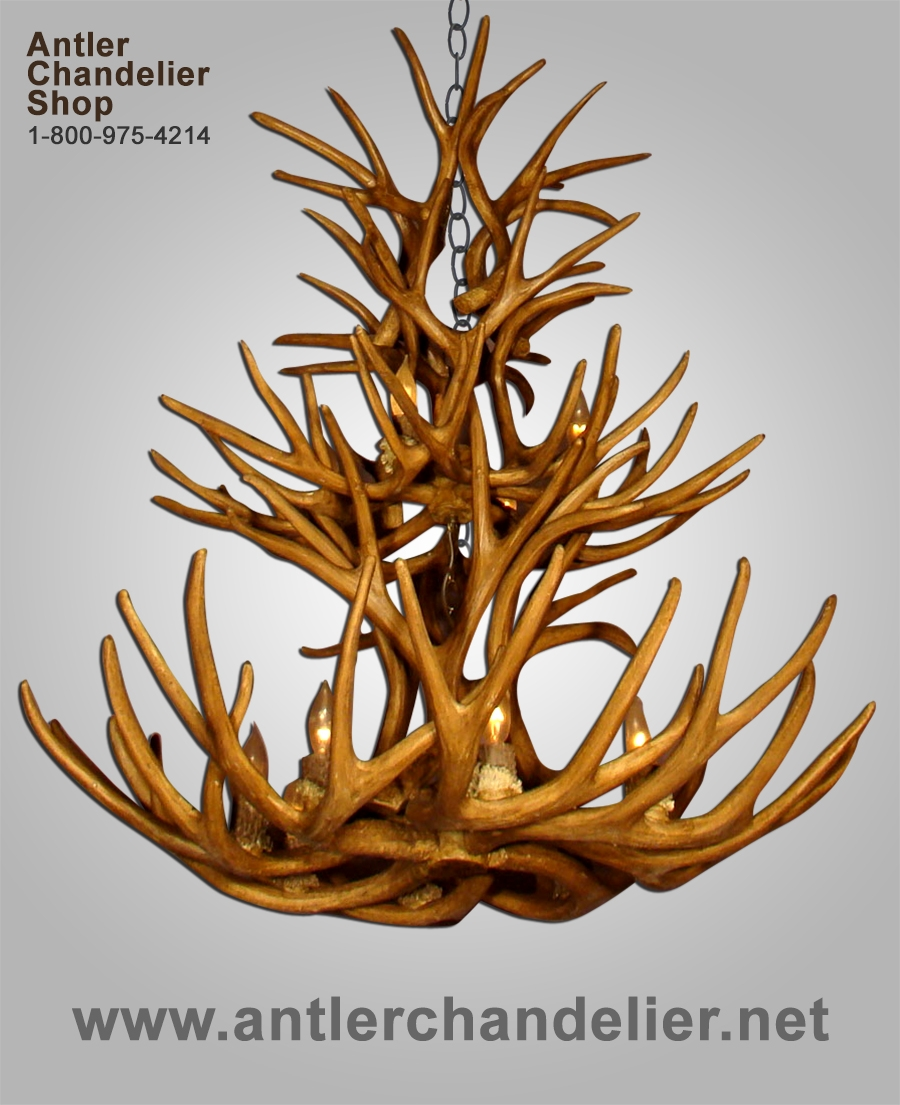 Large Antler Chandeliers Antler Chandelier Regarding Large Antler Chandelier (Image 7 of 15)
