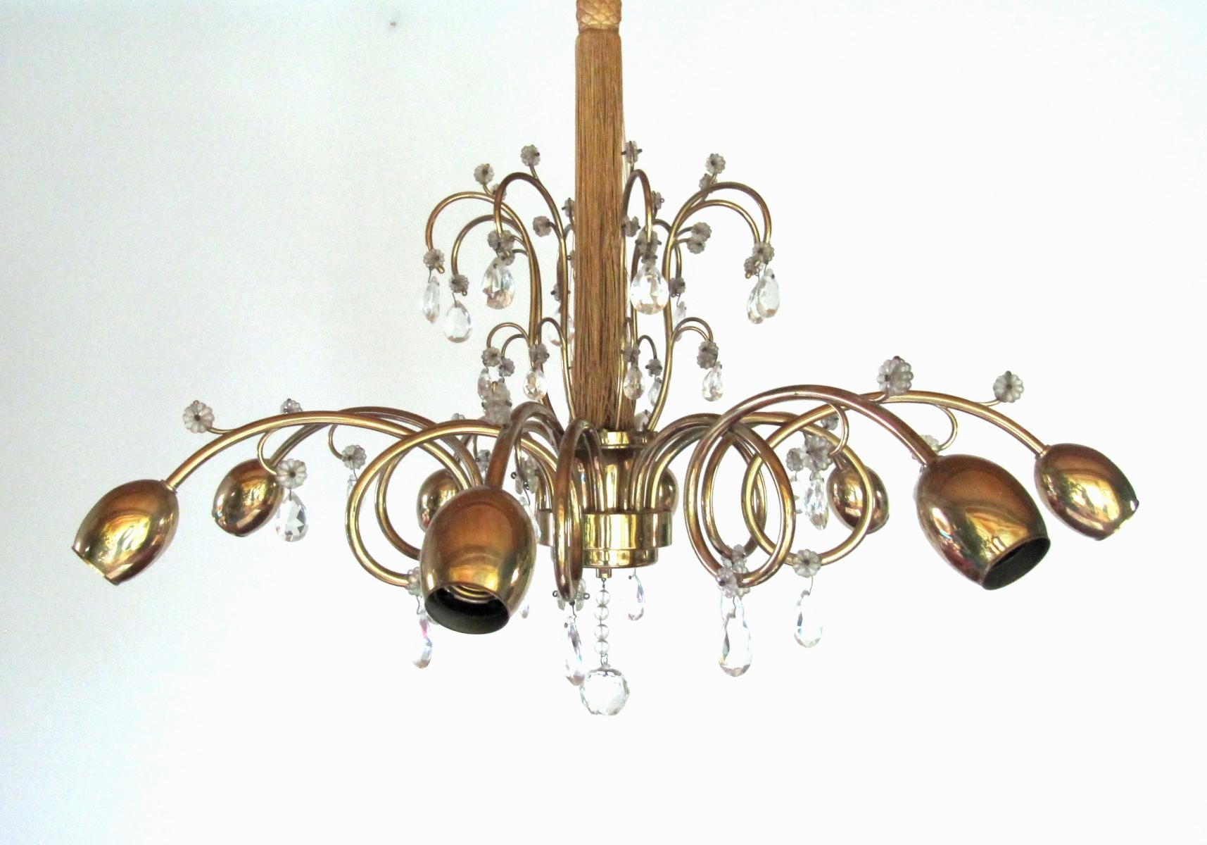 Large Austrian Art Deco Chandelier From Jl Lobmeyr For Sale At Pamono In Large Art Deco Chandelier (Image 11 of 15)