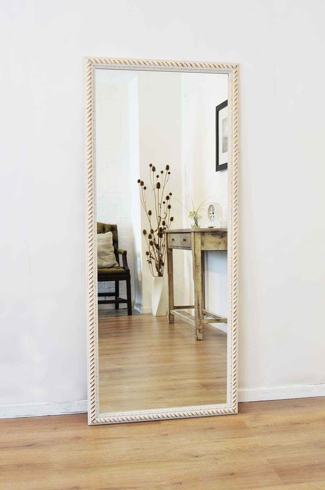 Large Bespoke Cream And Brushed Gold Ornate Wall Mirror 5ft4 X For Large Cream Mirror (Image 8 of 15)