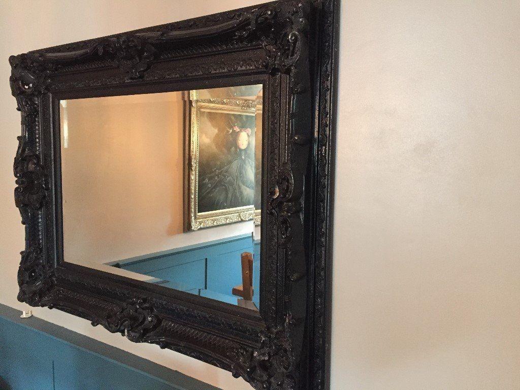 Large Black Ornate Mirror In Billericay Essex Gumtree In Large Black Ornate Mirror (Image 6 of 15)