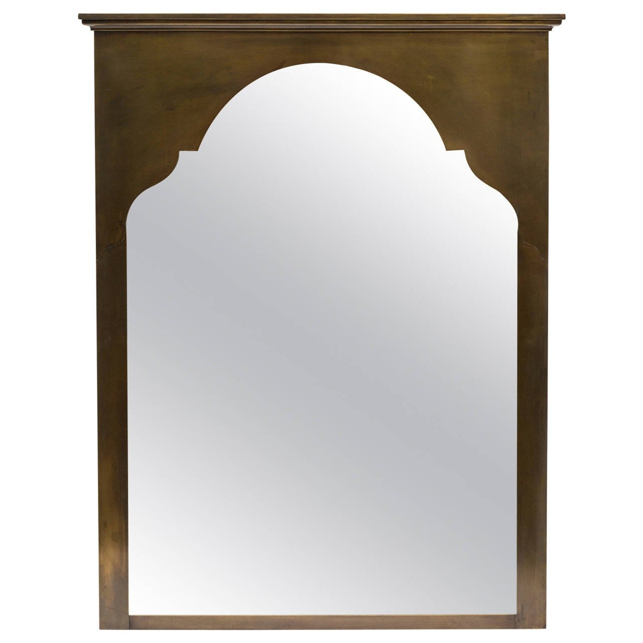Large Brass Moroccan Style Wall Mirror For Sale At 1stdibs With Brass Mirrors For Sale (Image 8 of 15)