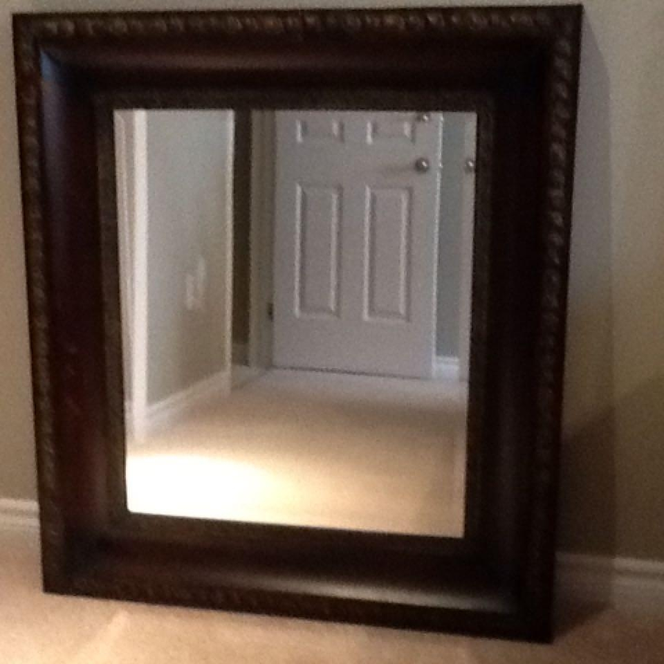 Large Bronze Metal Mirror Size 40 Ins X 36 Ins 6000 See Inside Large Bronze Mirror (Image 5 of 15)