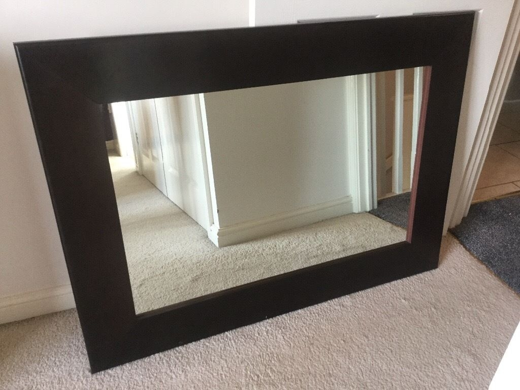 Large Brown Wood John Rocha Mirror In Bedworth Warwickshire In Large Brown Mirror (Image 9 of 15)