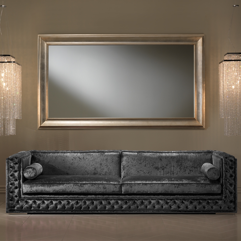 Large Champagne Leaf Wall Mirror Juliettes Interiors Chelsea With Regard To Champagne Wall Mirror (View 11 of 15)