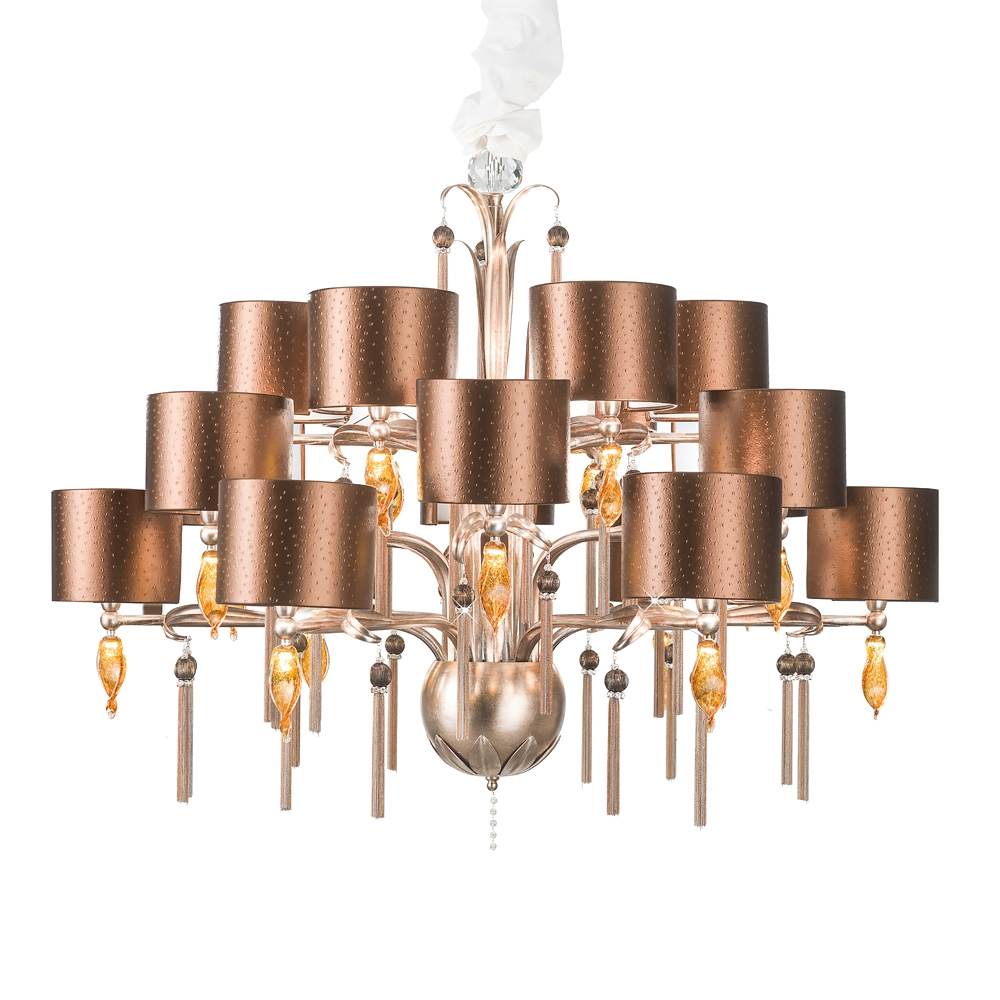 Large Copper Swarovski Crystal Chandelier Juliettes Interiors Throughout Copper Chandelier (Image 8 of 15)