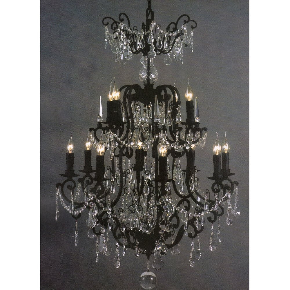 Large Crystal Chandelier Design Of Your House Its Good Idea Pertaining To Large Black Chandelier (Image 12 of 15)