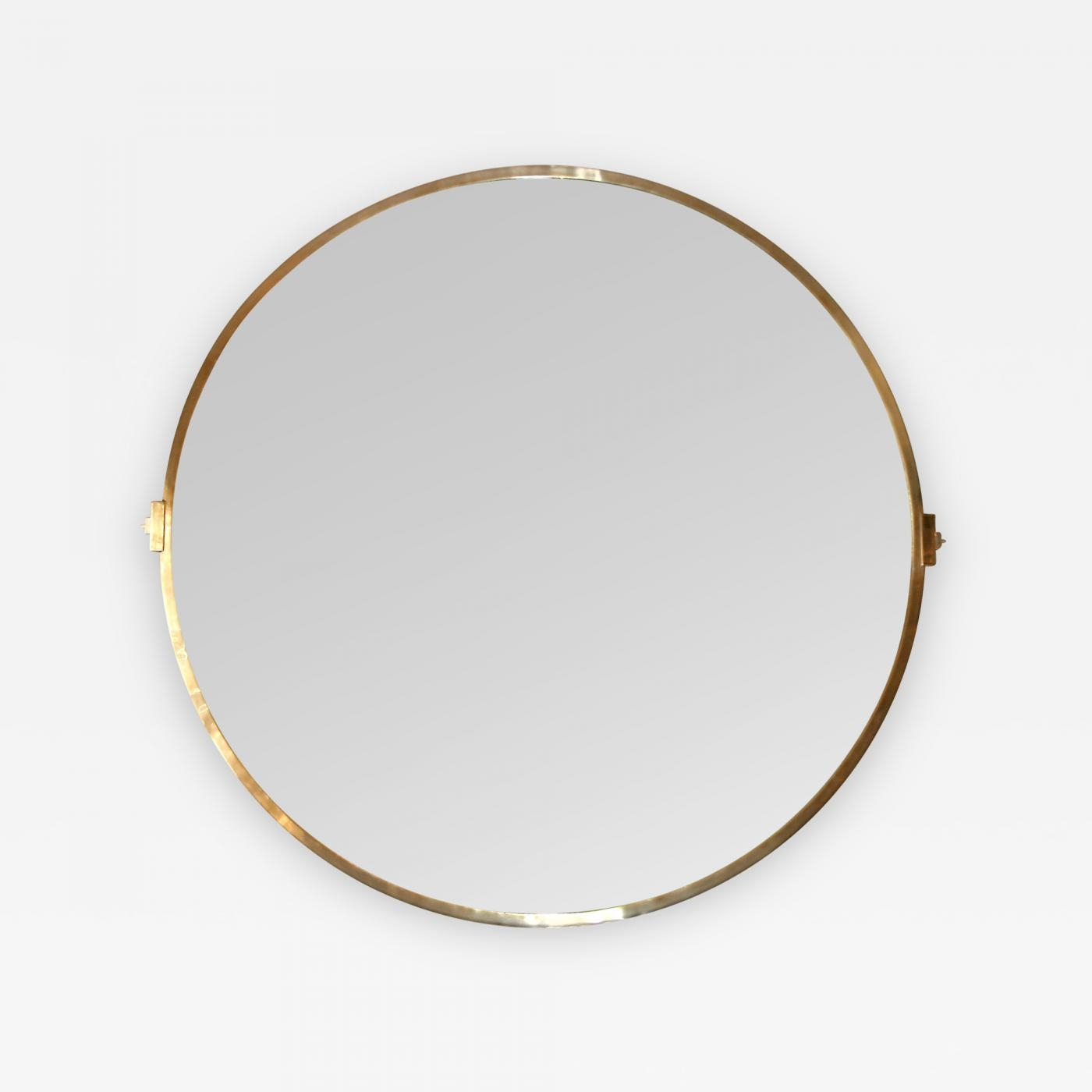 Large Custom Round Brass Mirror Within Mirrors Round Large (Image 8 of 15)