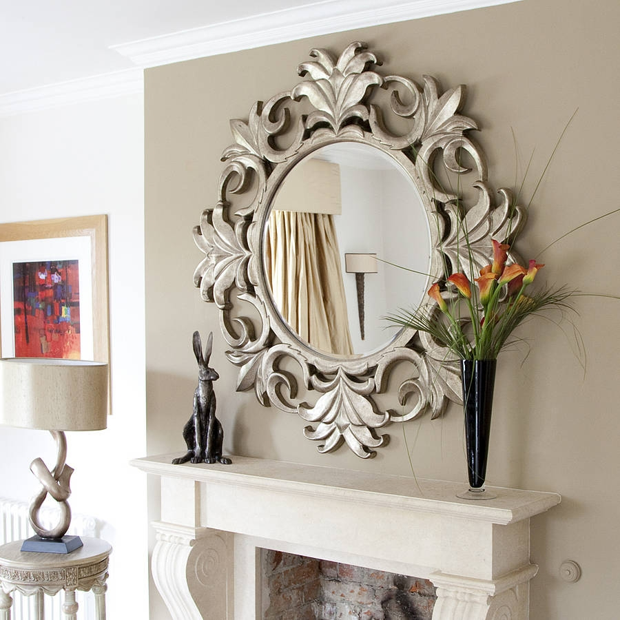 Large Decorative Mirrors Intended For Fancy Wall Mirrors (Image 8 of 15)