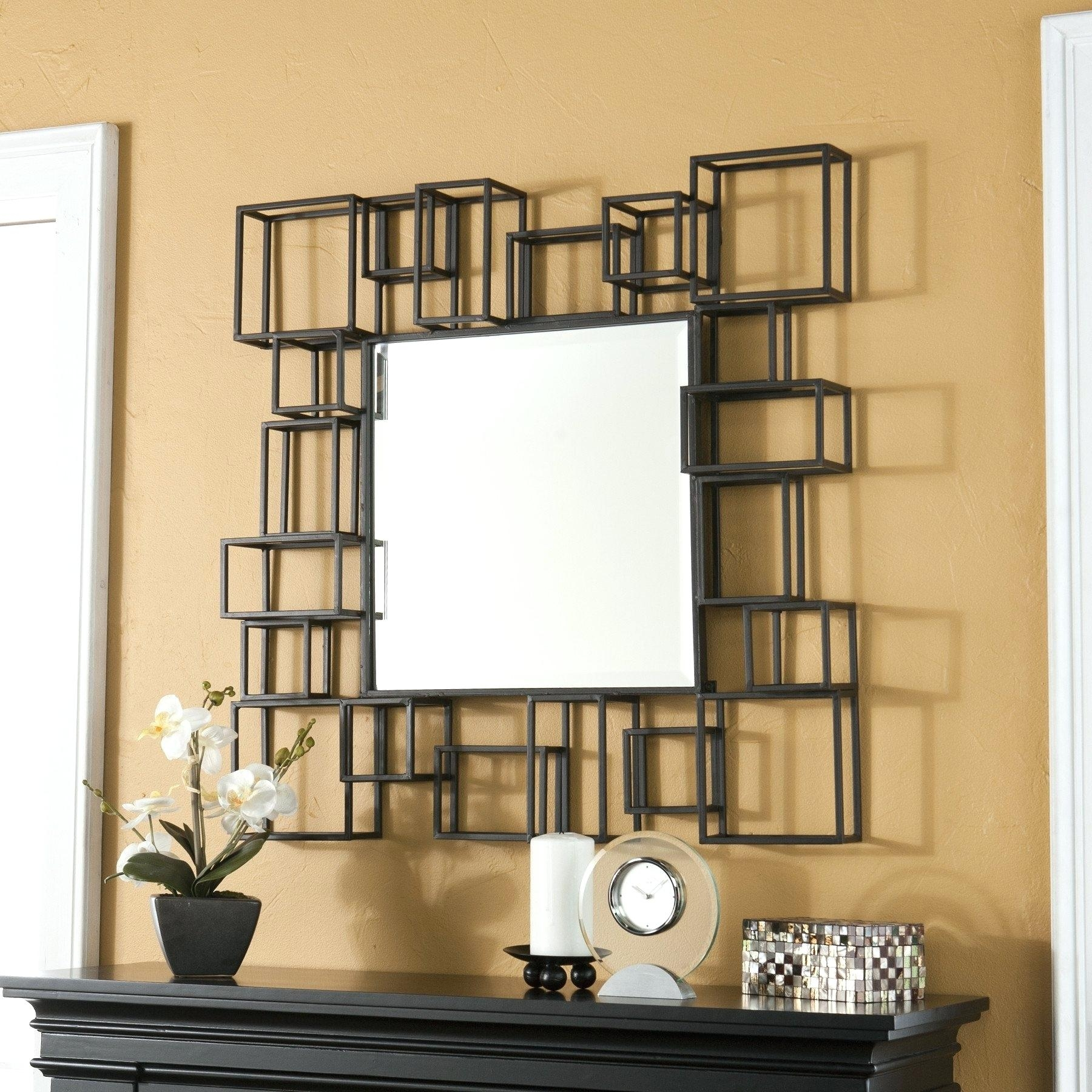 Large Fancy Wall Mirror Pitchloveco With Fancy Wall Mirrors (Image 11 of 15)