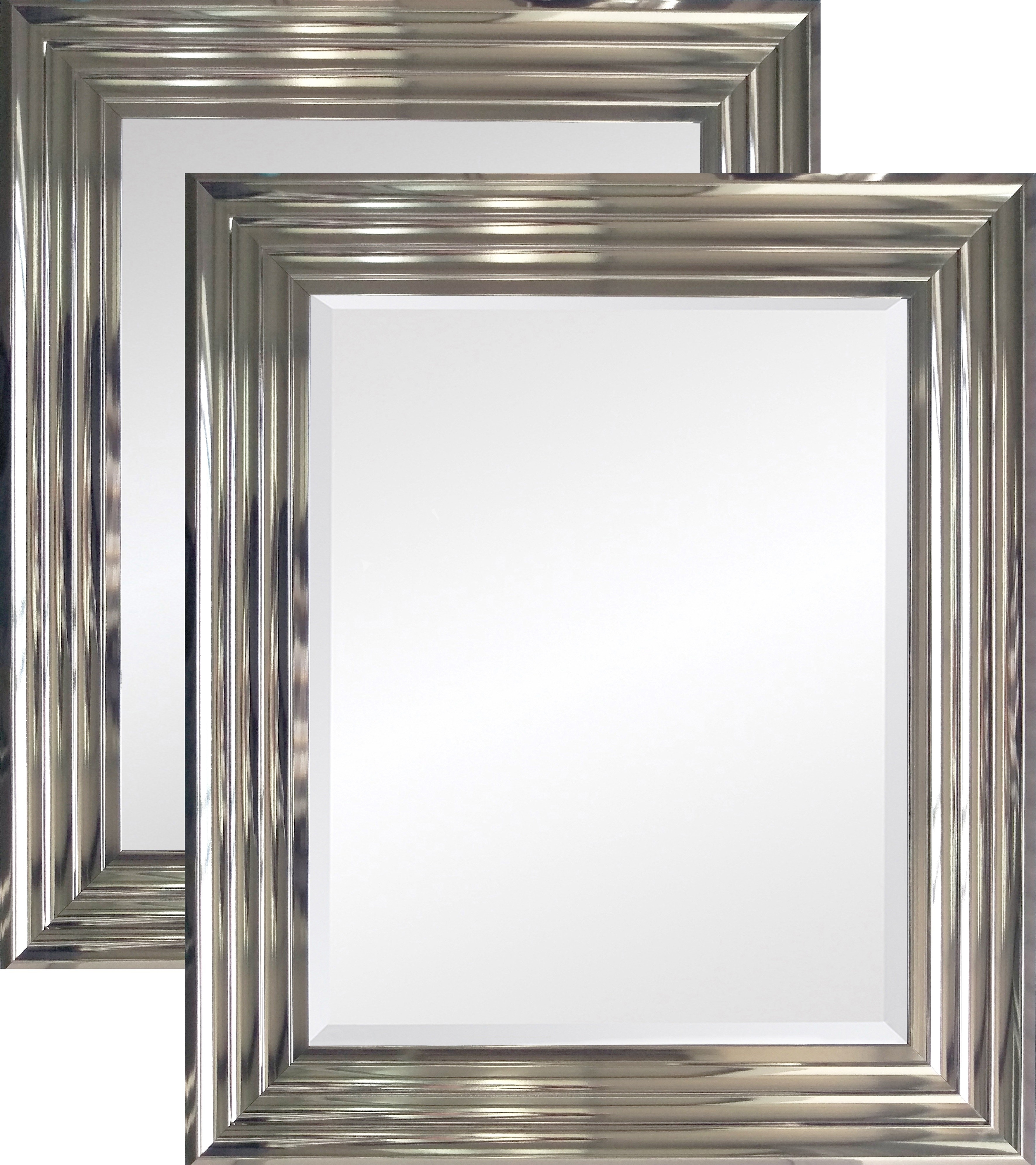 Large Firenza Gunmetal Mirror Various Sizes For Double Bevelled Mirror (Image 6 of 15)