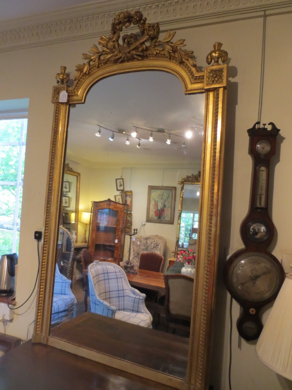 Large French Gilt Mirror 247674 Sellingantiquescouk Pertaining To Large Gilt Mirrors (Image 7 of 15)
