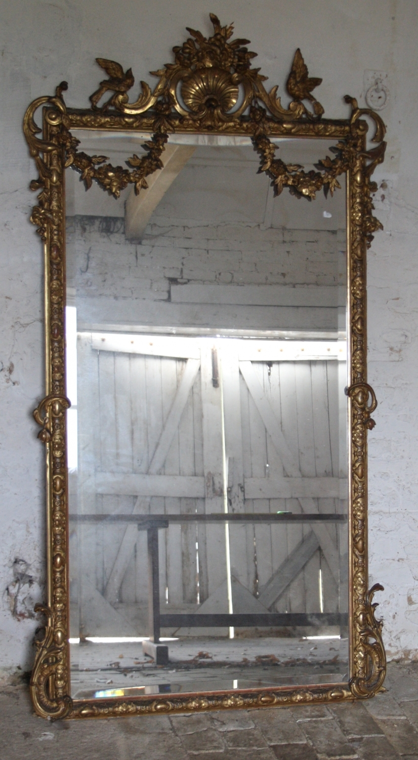 Large French Gilt Mirror C19th10304mainsize3 8261500 Throughout Large French Mirror (Image 11 of 15)