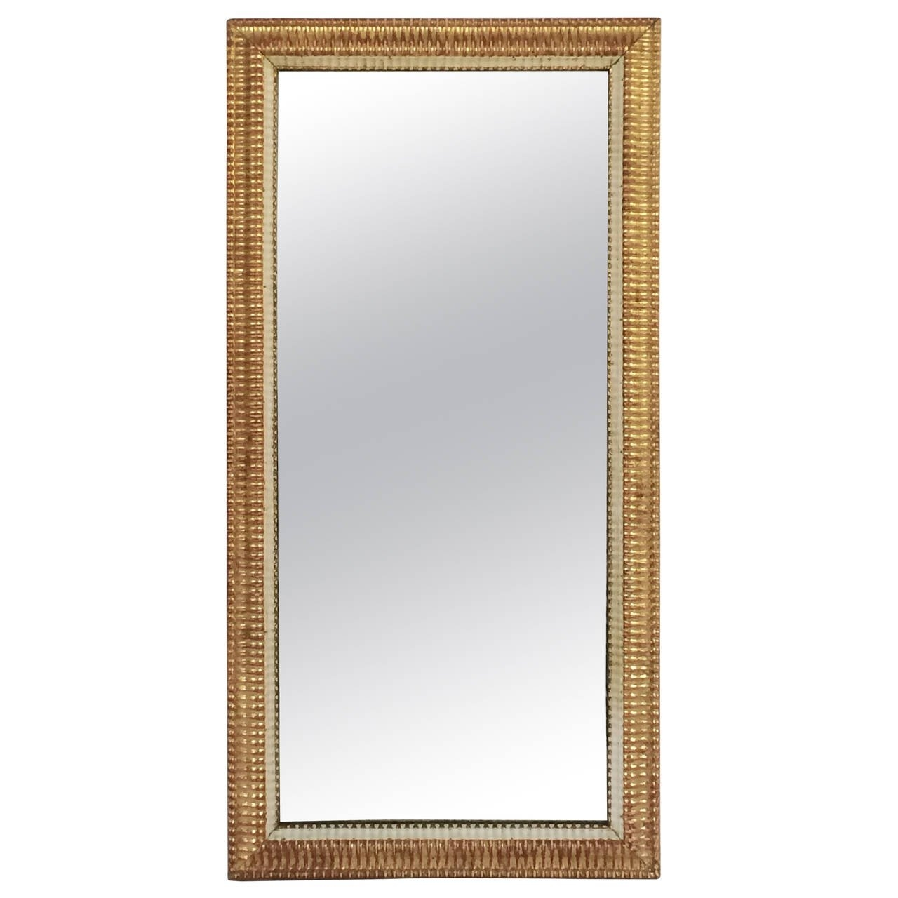 Large French Gilt Rectangular Wall Mirror 52 12 X 26 12 At Within Large French Mirror (Image 12 of 15)