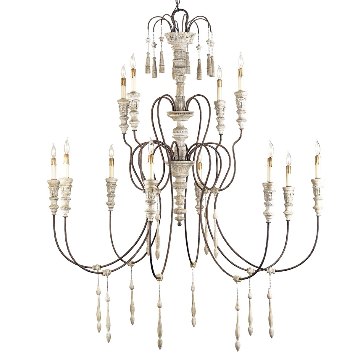 Large French Shab Chic Chandelier Throughout Country Chic Chandelier (Image 10 of 15)