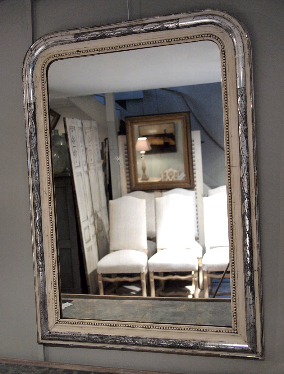 Large French Silver Gilt Mirror Puckhaber Decorative Antiques With Silver Gilded Mirror (Image 10 of 15)