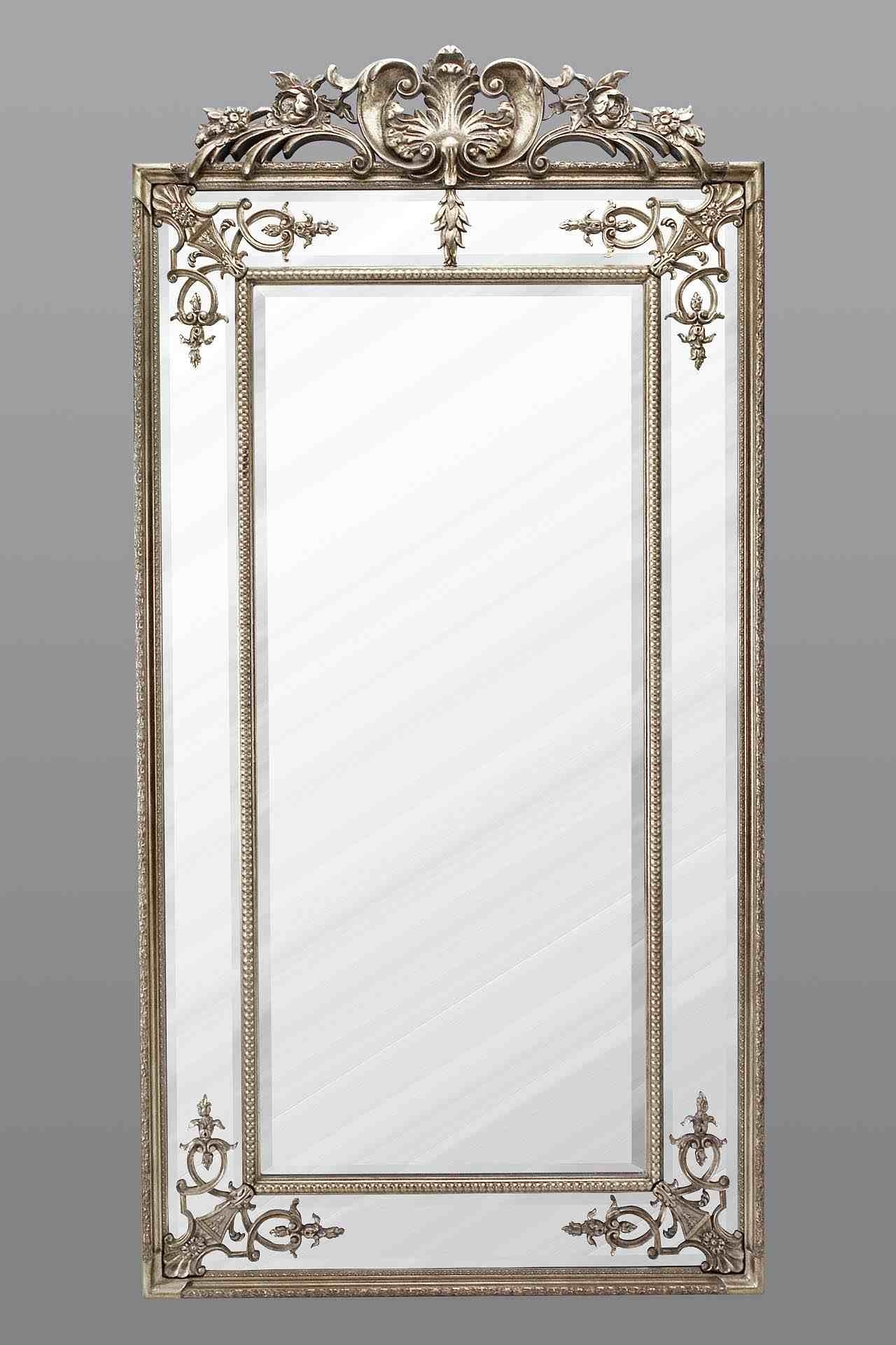 Large Full Length Mirror Silver Regarding Full Length Silver Mirror (Image 10 of 15)