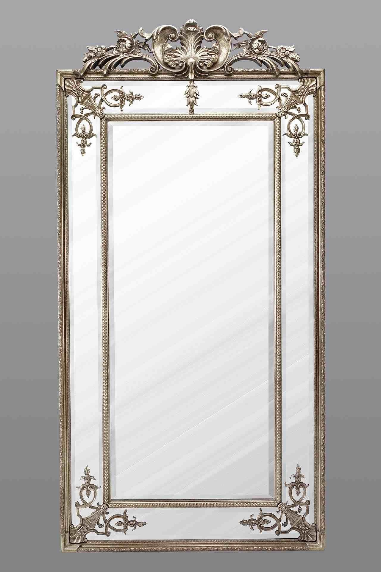 Large Full Length Mirror Silver Regarding Full Length Silver Mirror (View 5 of 15)