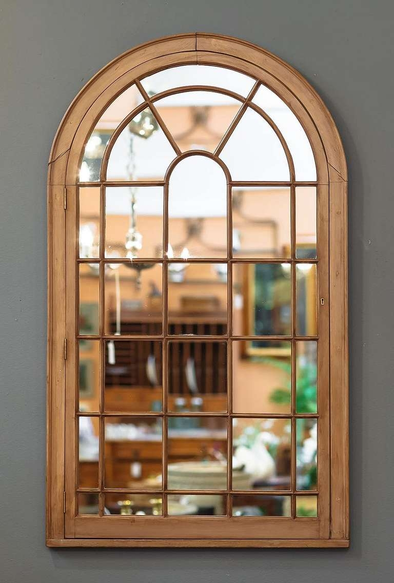 Large Georgian Arched Window Pane Mirrors H 49 34 X W 28 12 At With Regard To Arched Mirrors (Image 12 of 15)