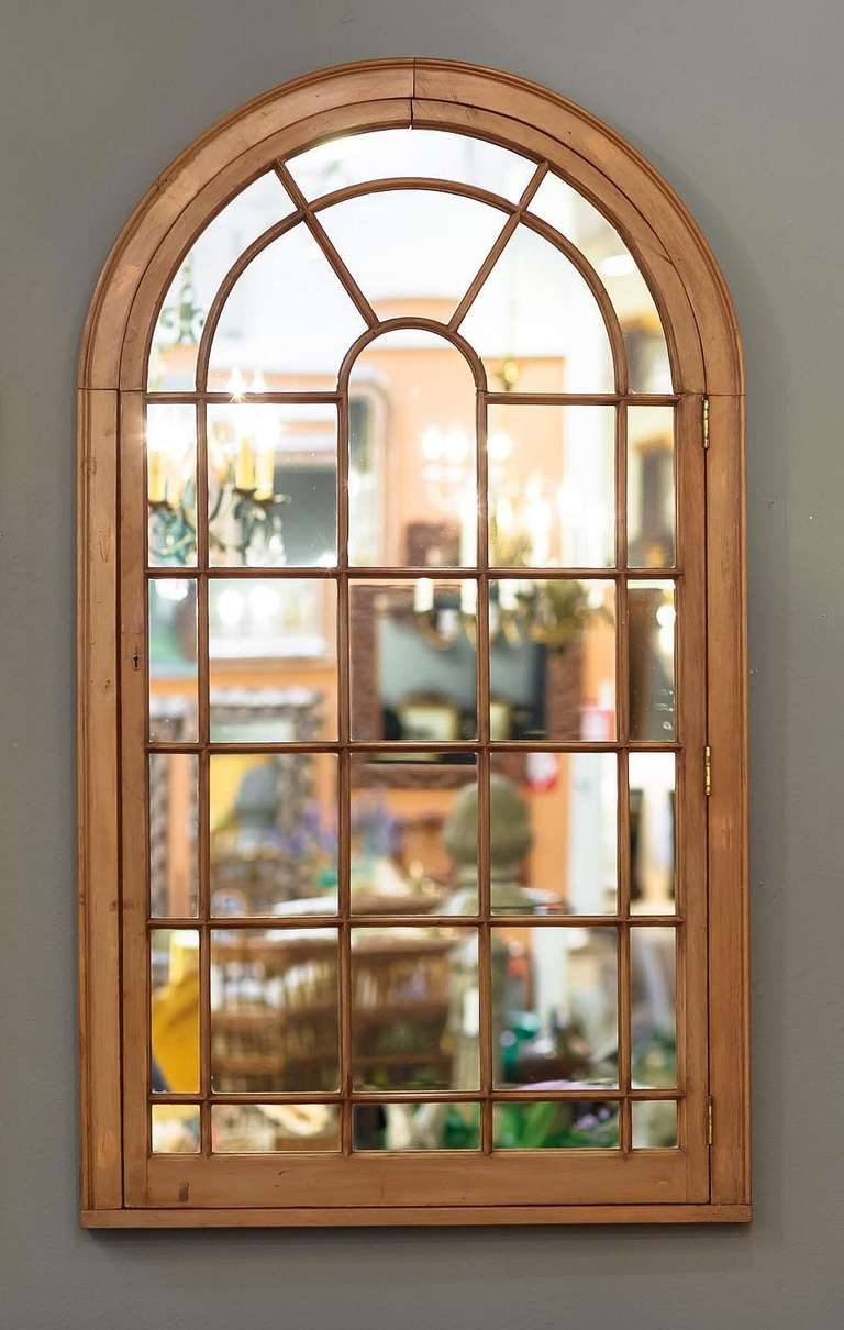 Large Georgian Arched Window Pane Mirrors H 49 34 X W 28 12 With Window Arch Mirror (Image 11 of 15)