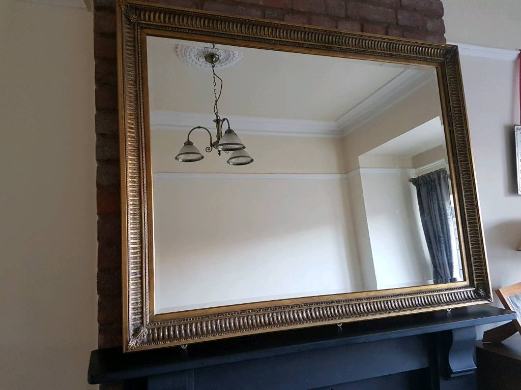 Large Gilt Edged Mirror In Brislington Bristol Gumtree Regarding Gilt Edged Mirrors (Image 12 of 15)