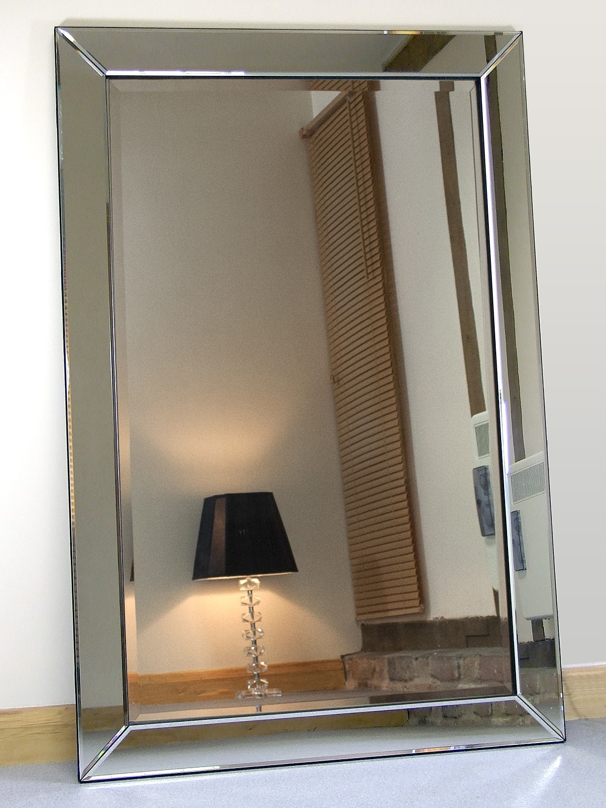 Large Glass Bevelled Wall Mirror Tonyswadenalocker Within Silver Bevelled Mirror (View 10 of 15)