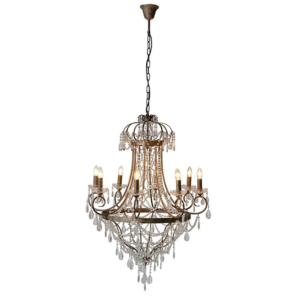 Large Glass Droplets Chandelier With Glass Droplet Chandelier (Image 12 of 15)