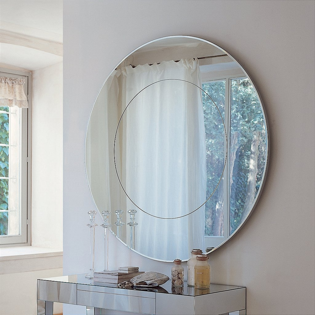 Large Glass Wall Art Uk Inside Large Circle Mirrors (Image 9 of 15)