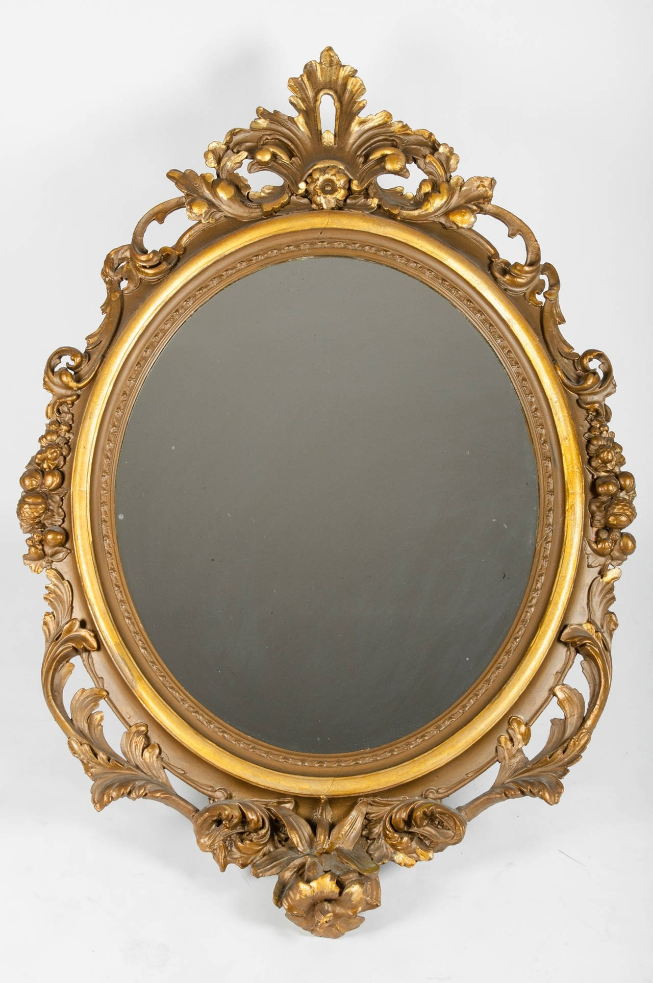 Large Gold Gilt Gesso Mirror For Sale At 1stdibs For Gold Gilt Mirrors (Image 12 of 15)