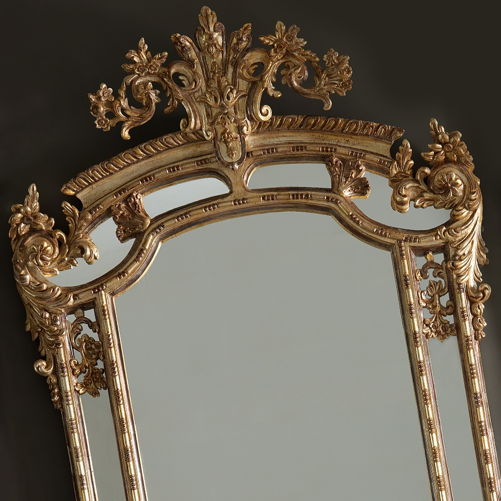 Large Gold Rococo Wall Mirror Juliettes Interiors Chelsea London Within Rococo Wall Mirror (Image 7 of 15)