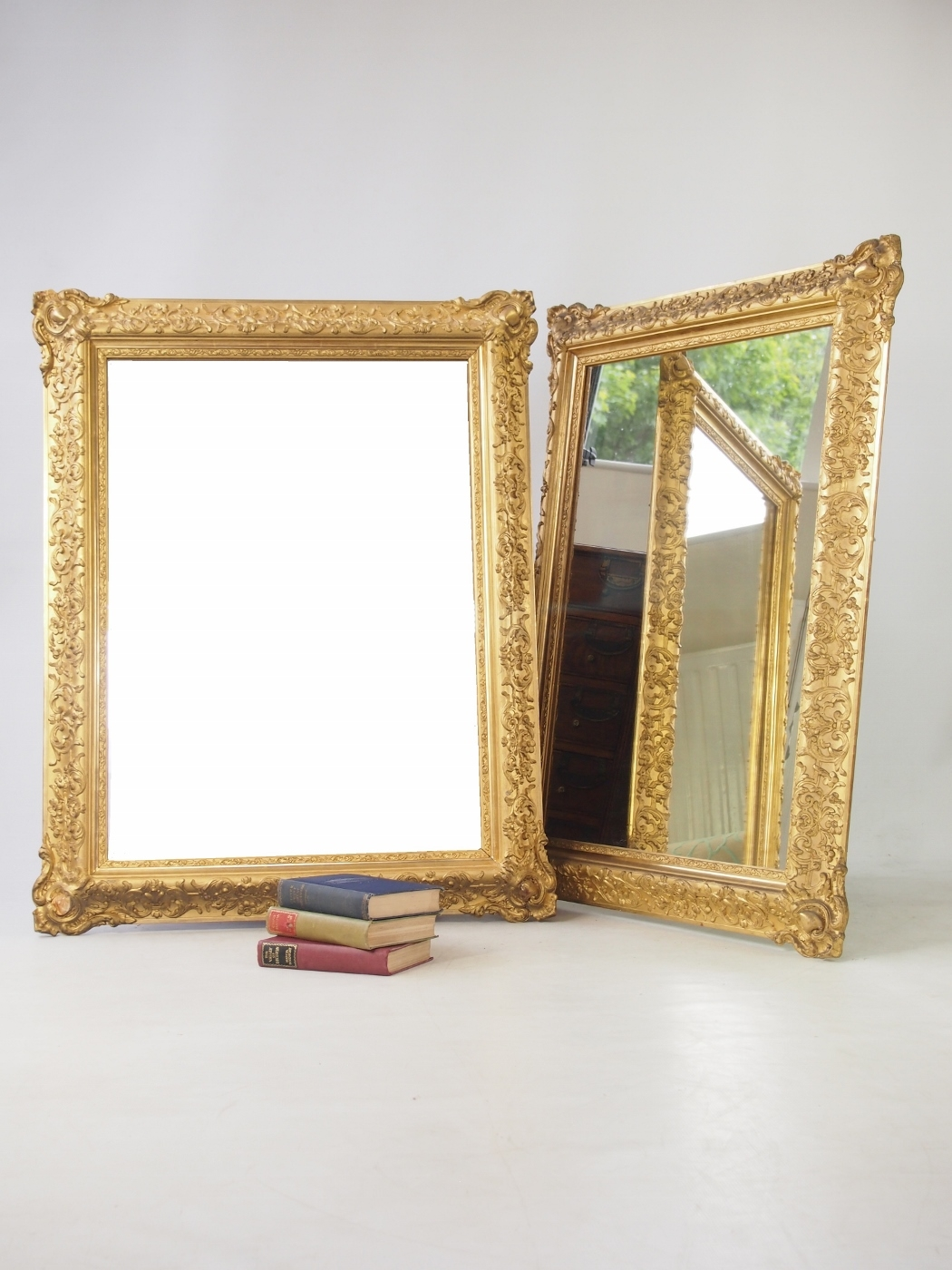 Large Impressive Pair Of Gilt Mirrors Loveantiques Throughout Gilt Mirrors (Image 10 of 15)