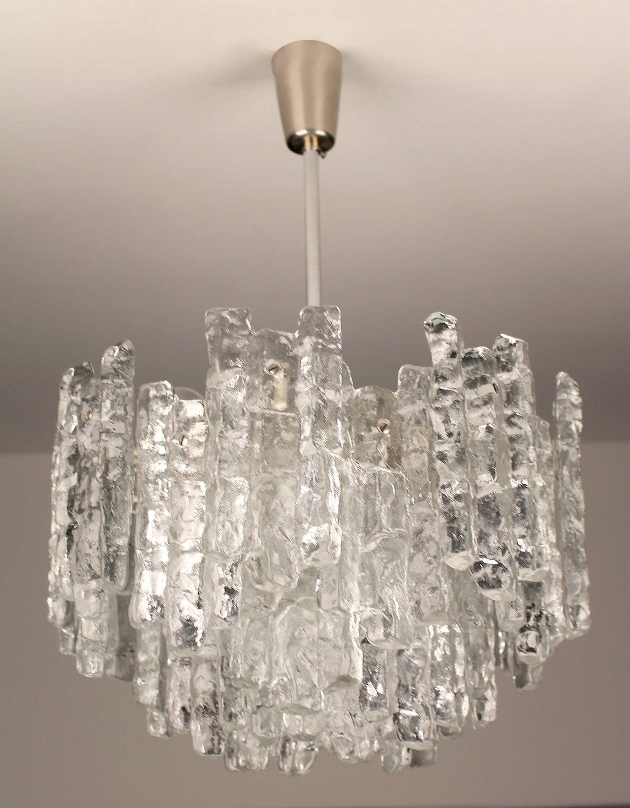 Large Kalmar Murano Glass Chandelier 1960s Modernist Design For Large Glass Chandelier (Image 8 of 15)