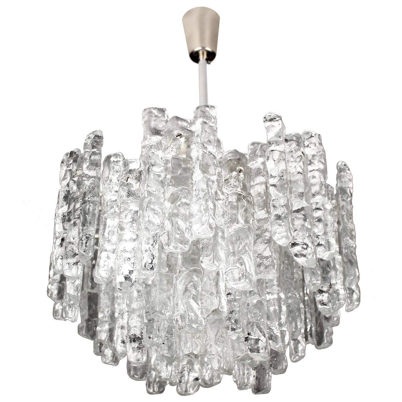 Large Kalmar Murano Glass Chandelier 1960s Modernist Design Throughout Large Glass Chandelier (Image 9 of 15)