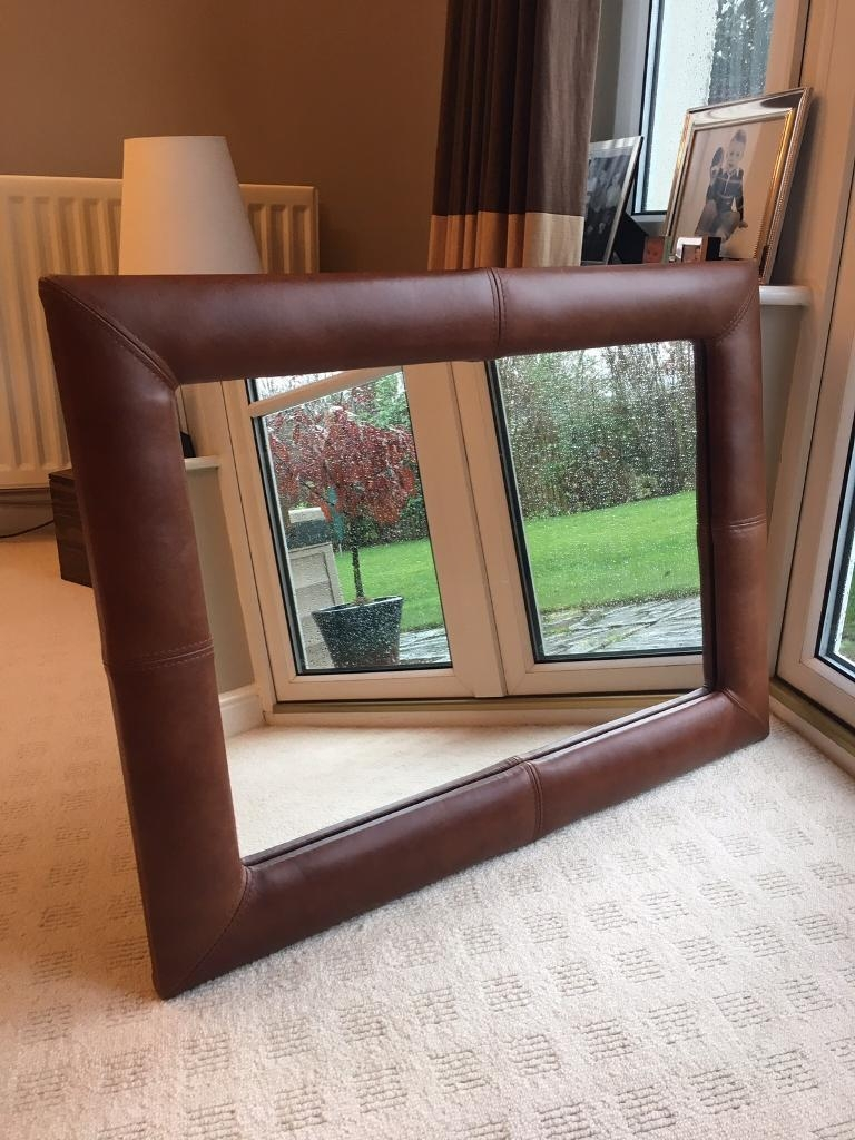 Large Leather Mirror In Cramond Edinburgh Gumtree Throughout Large Leather Mirror (Image 7 of 15)