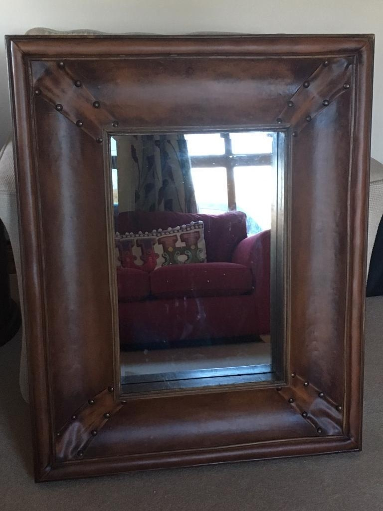 Large Leather Mirror In Portadown County Armagh Gumtree For Large Leather Mirror (Image 8 of 15)