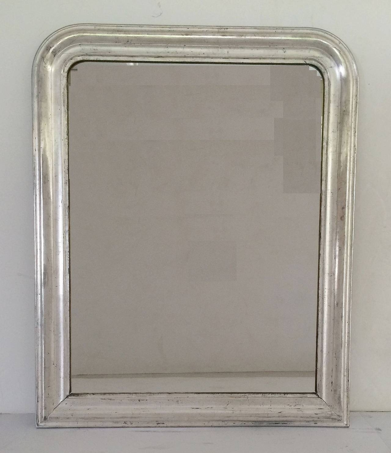 Large Louis Philippe Silver Gilt Mirror H 44 X W 35 For Sale At With Regard To Large Silver Gilt Mirror (Image 10 of 15)