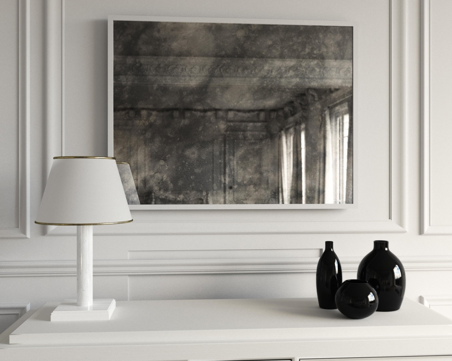 Featured Image of Large Antiqued Mirror