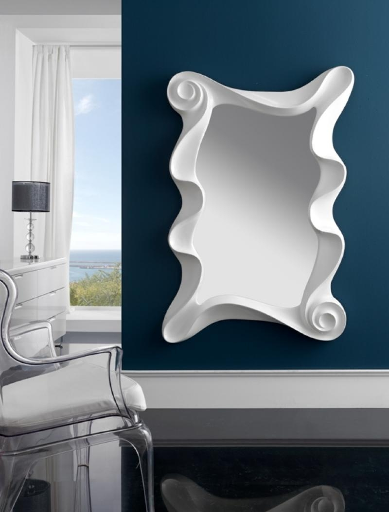 Large Modern Contemporary Mirror In Silver Finish Intended For Large Contemporary Mirror (Image 10 of 15)